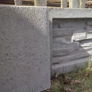 kamienny płot niski