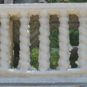 ozdobny płot z płyty betonowej 16