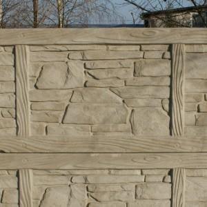 ozdobny płot z płyty betonowej 13