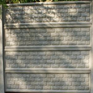 ozdobny płot z płyty betonowej 12