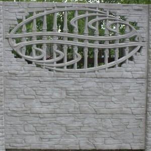 ozdobny płot z płyty betonowej 07