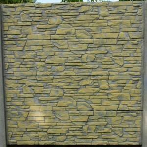 ozdobny płot z płyty betonowej 08